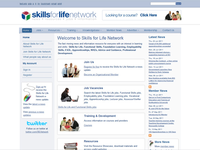 skills for life network website