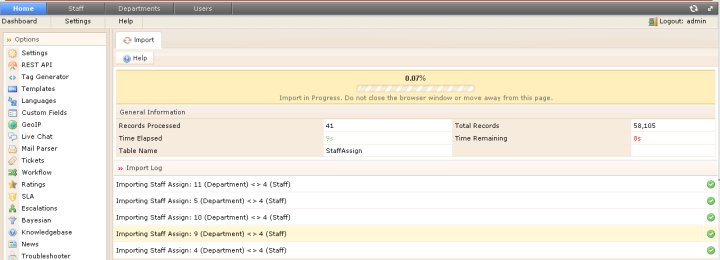 v4 beta import from admin control panel